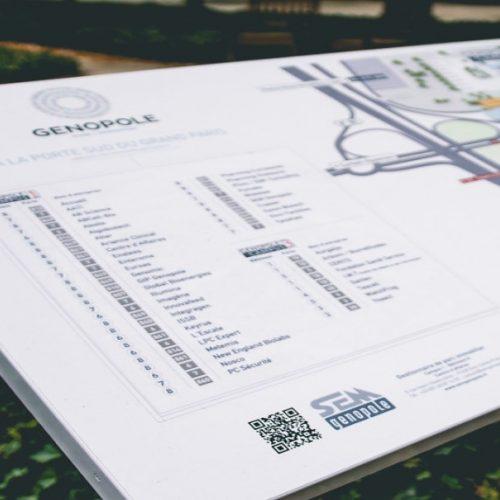 Plan des campus Genopole - Evry