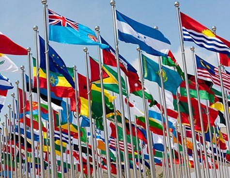 drapeaux du monde - international