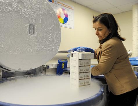Cuve d'azote de la banque d'ADN et de Cellules - plateforme génopolitaine