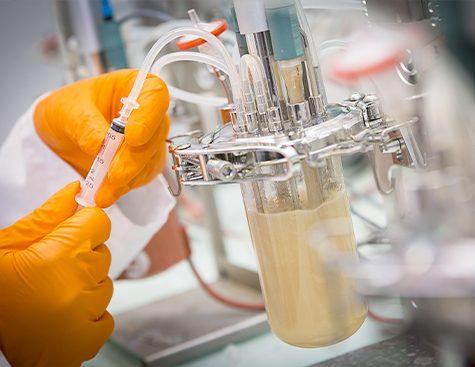 Injection de solution dans un biofermenteur - plateforme Genopole