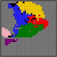 SysFate - cartographie d'une coupe de pancréas par le Multilayer