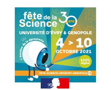 Fête de la science 2021 à Evry avec Genopole et l'UEVE